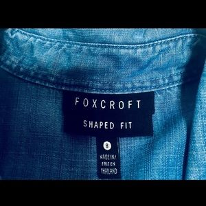 Foxcroft Tops - Foxcroft Blue Chambray Shirt